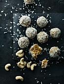 Cashew coconut truffles