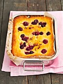 Yogurt cake with sour cherries