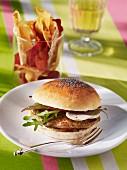 A foie gras burger