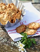 Cashew nut biscuits for a spring picnic
