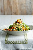 Pasta with pumpkin and rocket pesto
