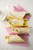 Tuna fish wraps with avocado