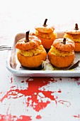 Mini pumpkins filled with risotto