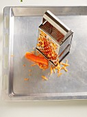A grater with carrot