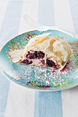 Apple and cherry strudel with ricotta cheese