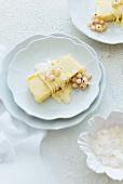 Mango parfait with whitecurrants