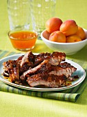 Pork ribs with apricot sauce