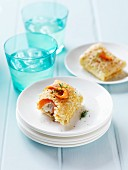 Crepe parcels with smoked salmon