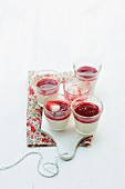 Panna cotta with red fruits