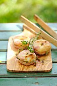 Grilled peaches with lemon thyme