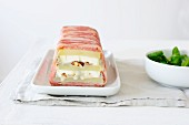 Potato terrine with goat's cheese and hazelnuts