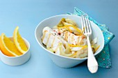 Chicken fillet with chicory and onions