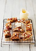 Strawberry and almond slices