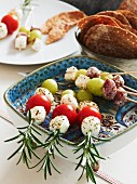 Mozzarella skewers