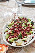 Cucumber and pomegranate raita