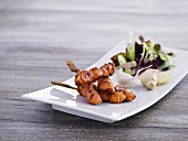 Chicken skewers with garlic and ginger