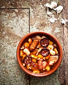 Fabada Asturiana (white bean stew with pork, Spain)
