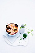 Fish stew with prawns and mussels