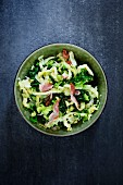 Savoy cabbage with bacon