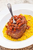 Osso Buco mit Risotto Milanese (Italien)