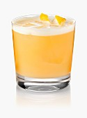 A Gin Sour cocktail with saffron