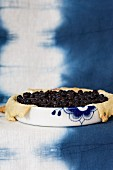 Blueberry and apricot tart