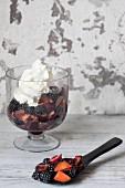 Fruit salad with blackberries