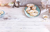 Shortcrust moons with flaked almonds