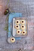 Husarenkrapferl (Austrian shortbread jam biscuits)