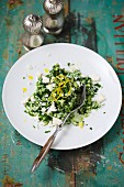 Spinach risotto with Parmesan and lemon zest