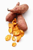 Sweet potatoes and sweet potato crisps