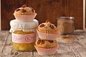 Apple sauce muffins with raisins