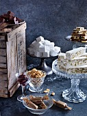Various homemade sweets and confectionery