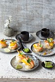 Sushi bite with prawns