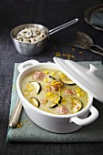 Courgette, meatball and sweetcorn stew