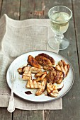 Grilled porcini mushrooms with balsamic sauce