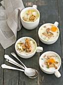 Chanterelle mushroom soup with potatoes and cream