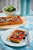 Tomato and olive tart