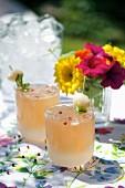 Lychee lemonade with pink pepper