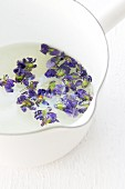 Violets in sugar syrup