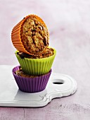 Carrots muffins with nuts and cinnamon