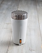 An electric coffee grinder
