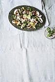 Oriental mushroom salad