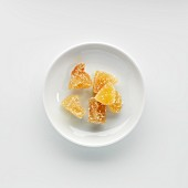 A plate of candied ginger
