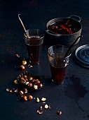 Mulled wine with Christmas spices and clementine zest