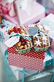 Homemade fruitcakes as Christmas presents
