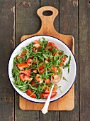 Rocket and tomato salad with vinaigrette