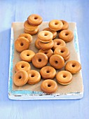 Mini doughnuts with cinnamon glaze