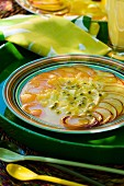 Exotic fruit carpaccio