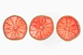 Three grapefruit slices